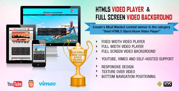 HTML5 Video Player & FullScreen Video Background