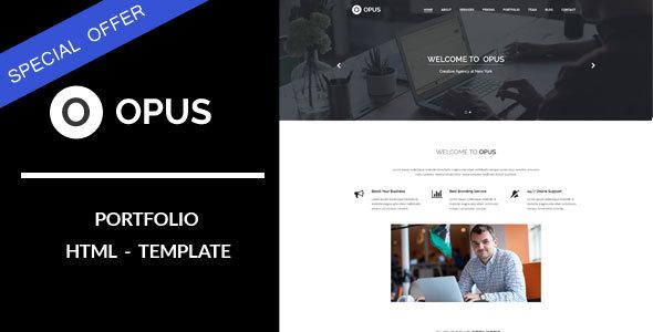 Opus : Portfolio HTML Template