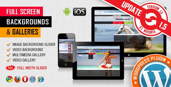 Image&Video FullScreen Background WordPress Plugin Download