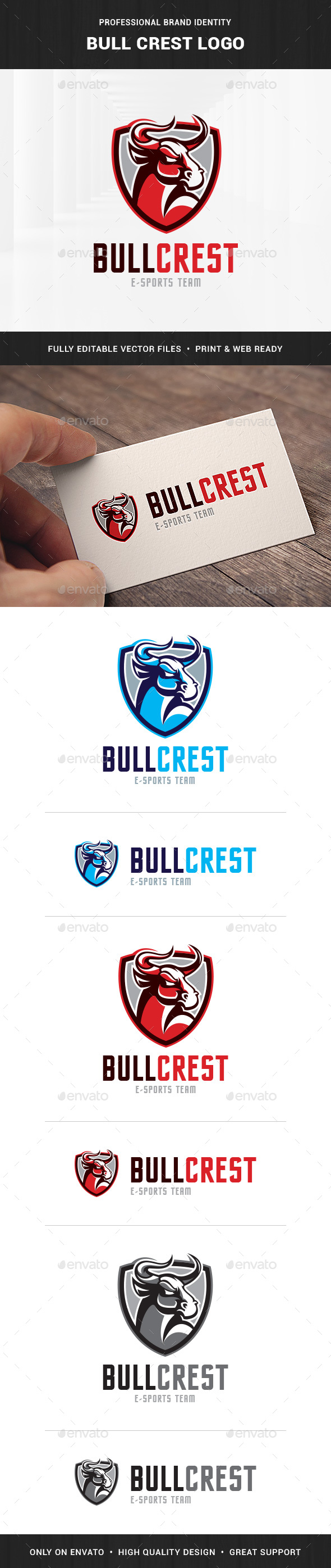 Bull Crest Logo Template