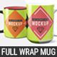 11 oz & 15 oz Full Wrap Mug Mockup Templates - GraphicRiver Item for Sale