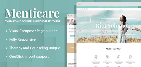Menticare - Therapy and Counseling WordPress Theme