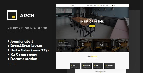 Arch - Interior Design Joomla Template