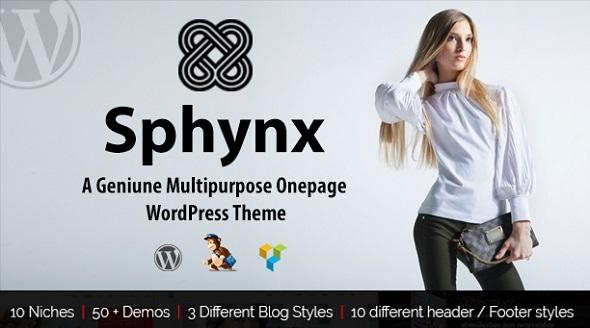 Sphynx - A Geniune Multipurpose WP Theme