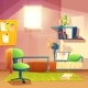 Vector Student Small Room - GraphicRiver Item for Sale