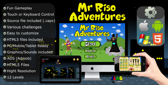 Mr. Riso Adventures (CAPX - MOBILE and HTML5)