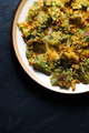 Fried tempura broccoli on a ceramic plate. Asian cuisine - PhotoDune Item for Sale