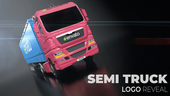 Semi Truck Logo Reveal