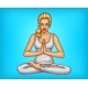 Vector Pop Art Girl Meditates in Lotus Position - GraphicRiver Item for Sale