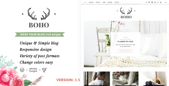 Bohopeople Personal WordPress Blog Theme