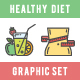 Healthy Diet Icons Set - GraphicRiver Item for Sale