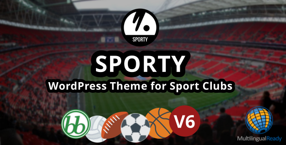 SPORTY-Responsive WordPress Theme for Sport Clubs Download