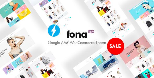 Fona - Responsive Google AMP WooCommerce Theme