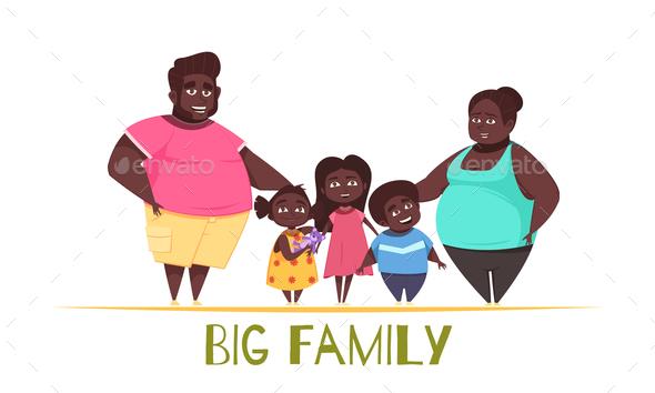 Big Family Illustration