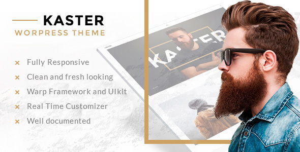 Kaster — Creative portfolio WordPress Theme