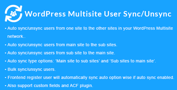 WordPress Multisite User Sync/Unsync Download