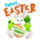 Happy Easter Illustration - GraphicRiver Item for Sale