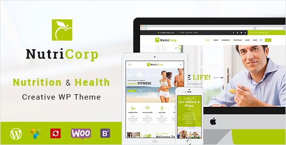 Nutricorp   Nutrition & Health Creative WordPress Theme