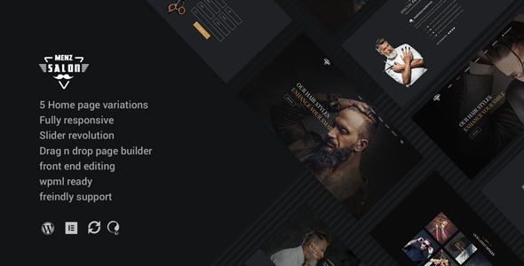 MenzSalon - Barber & Salon WordPress Theme