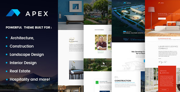 Apex - Construction, Builders, Designers & Architects WordPress Theme