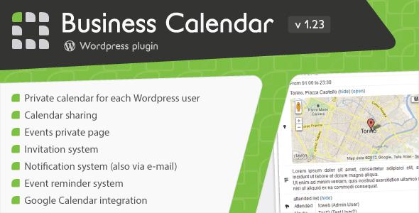 Business Calendar - Wordpress Internal Calendar Download