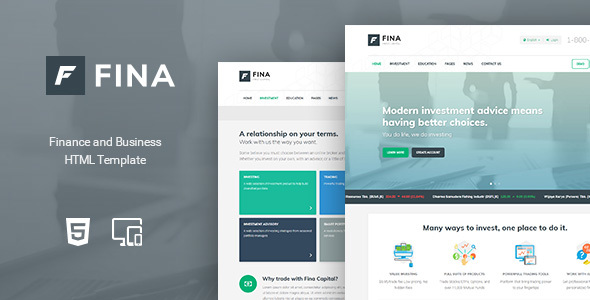 Fina – Finance and Business HTML Template