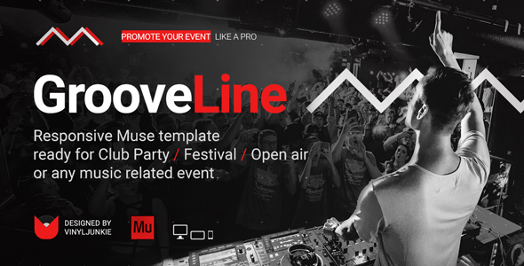 GrooveLine - Music Event / Festival / DJ Party Responsive Muse Template