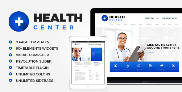 Health Center - Medical WordPress theme
