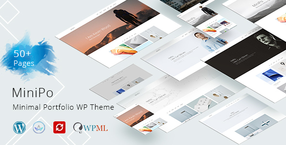 MiniPo - Multipurpose Minimal Portfolio WordPress Theme