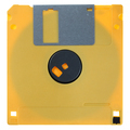Yellow floppy disk isolated on white - PhotoDune Item for Sale