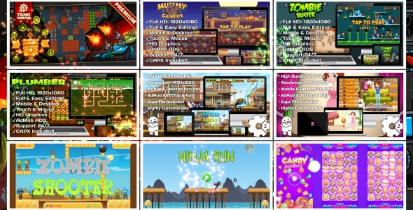 HTML5 GAMES BUNDLE №7 (Construct 3 | Construct 2 | Capx) Download