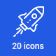 20 Space Icons - GraphicRiver Item for Sale