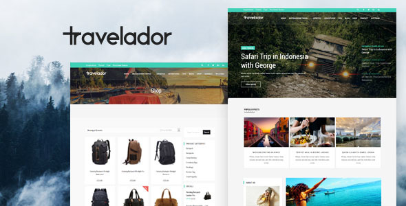 Travelador - WordPress Blog Travel & WooCommerce Shop Theme