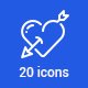 20 Wedding and Love Icons - GraphicRiver Item for Sale