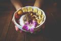 Vegan acai bowl breakfast closeup. - PhotoDune Item for Sale