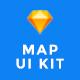 MapNavi - Maps & Navigation UI KIT for Sketch - ThemeForest Item for Sale