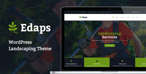 Edaps - WordPress Landscaping Theme