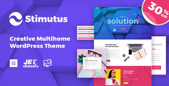 Stimutus - Creative Multihome Elementor Based WordPress Theme