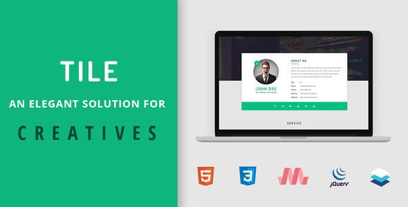 Tile - Resume/CV/vCard/Portfolio HTML Template