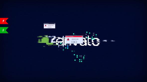 Modern Glitch Logo/ Stylish Youtube Opener/ Interface Error/ Ultimate Shape Hud UI Techno Blog Intro