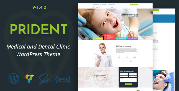 Prident - Medical and Dental Clinic WordPress Theme
