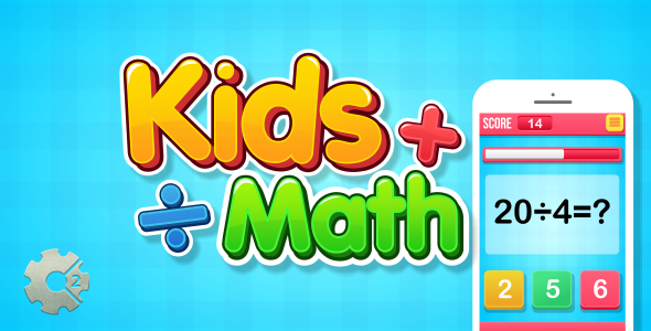 Kids Math - HTML5 Game (Construct 2) Download