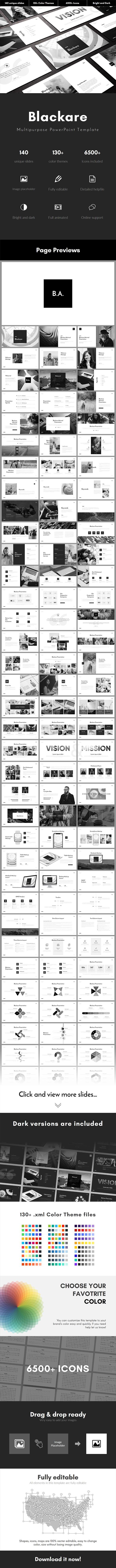 Blackare Multipurpose PowerPoint Template