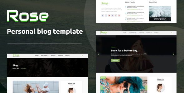 Rose - Personal Blog HTML Template