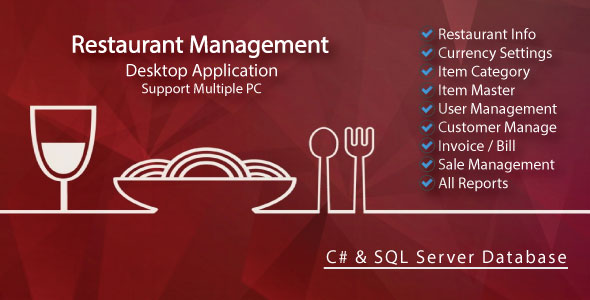 Easy Restaurant Management System & All Reports with full source code