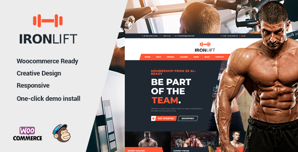 IronLift - Fitness and Gym WordPress Theme