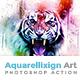 Aquarellixign Art   PS Action - GraphicRiver Item for Sale