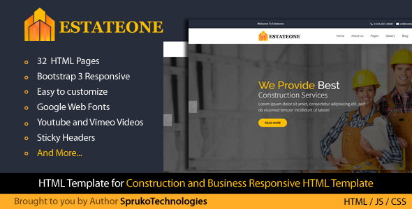 Estateone - Real Estate business Marketing Multipurpose  HTML Template