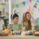 Friendly Family Talks with Relatives on Skype on Easter - VideoHive Item for Sale