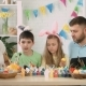 Happy Family with Children Talking on Skype with Relatives for Easter - VideoHive Item for Sale